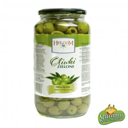 Оливки зеленые без косточек Helcom 900г / 450г