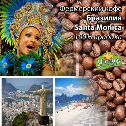 Фермерська кава Бразилія Santa Monica