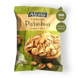 Фисташки Alesto соленые, жареные 500 грамм (Калифорния)