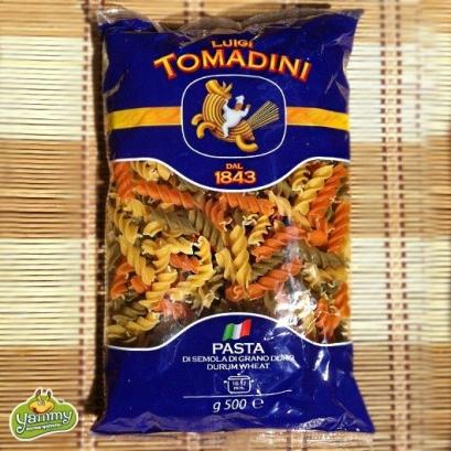 Макароны Томадини Cпиральки из твердых сортов пшеницы 500г (разноцветные)