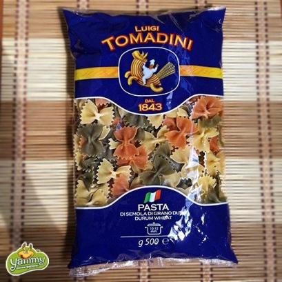 Макароны Томадини Фарфалле из твердых сортов пшеницы 500г (разноцветные)
