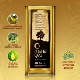 Оливковое масло Мана Геа 5л. Свежий урожай оливок! Бесплатная доставка!